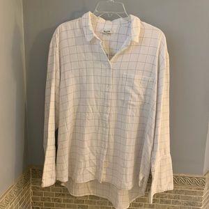 Madewell Flannel Windowpane Shirt , XL NWT